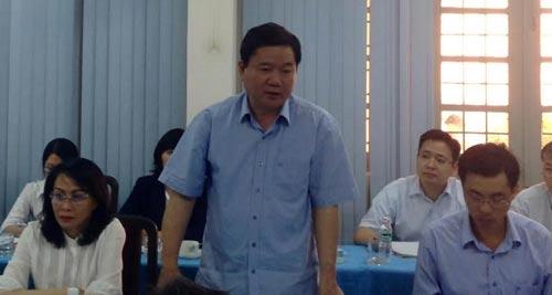Bí thư Đinh La Thăng làm việc tại Trường ĐH Sài Gòn