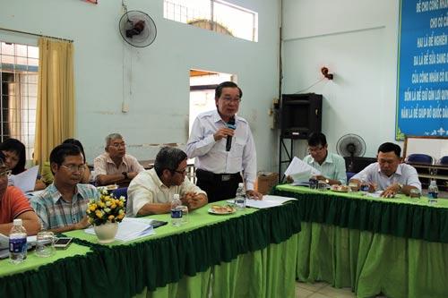 Các cán bộ CĐ tham gia đóng góp ý kiến sửa đổi, bổ sung Điều lệ Công đoàn Việt Nam