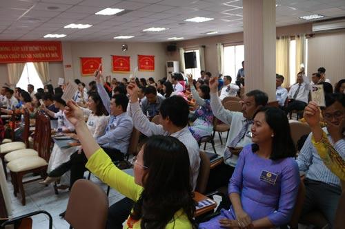 Đại biểu thông qua quy chế đại hội