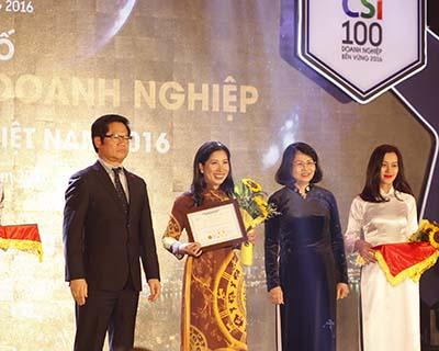 Top 100 doanh nghiệp phát triển bền vững 2016