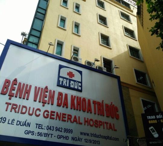 Bệnh viện Đa khoa Trí Đức, nơi xảy ra trường hợp 2 bệnh nhân tử vong sau khi gây mê