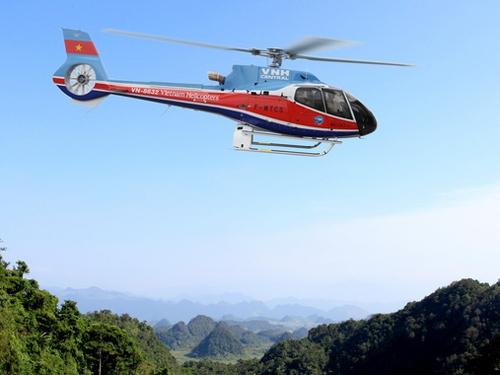 Máy bay trực thăng EC130 T2 mang số hiệu VN 8632 của Tổng công ty trực thăng Việt Nam - Ảnh tư liệu của Tổng công ty trực thăng Việt Nam