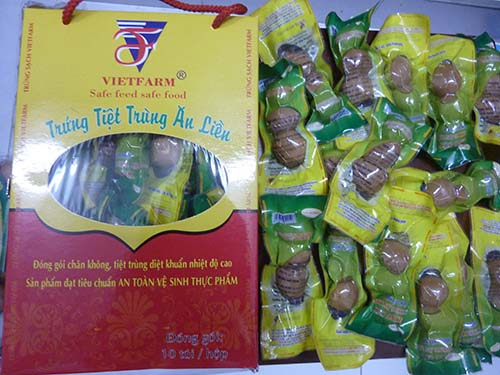 Trứng tiệt trùng ăn liền của Vietfarm