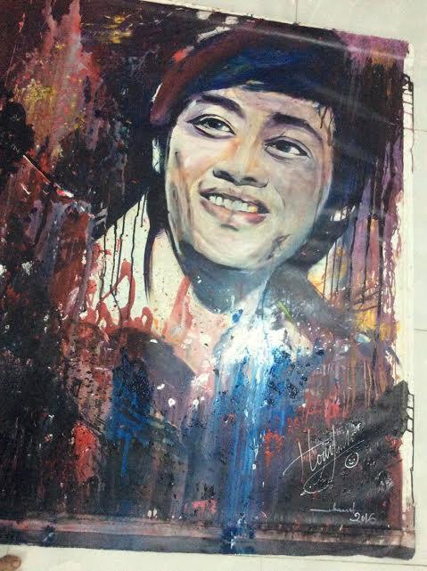 Bức chân dung vẽ nghệ sĩ Hoài Linh sẽ được bán đấu giá để ủng hộ đồng bào miền Trung