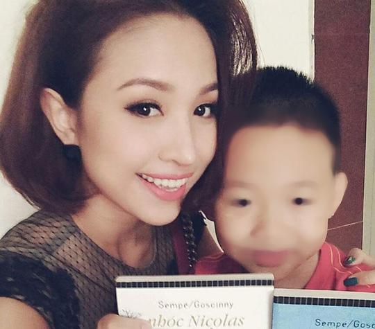MC Vân Hugo và con trai