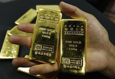 Những thỏi vàng loại 1 kg - Ảnh minh họa: Reuters