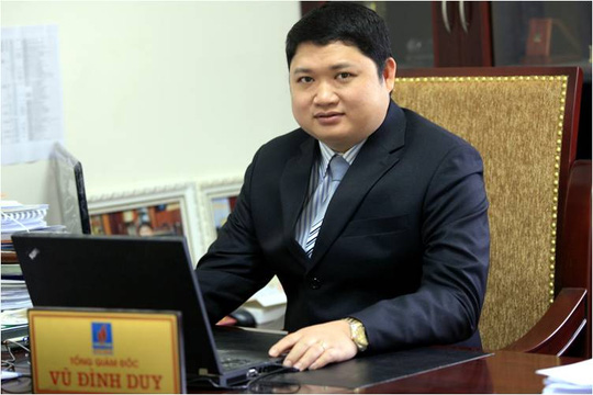 Vũ Đình Duy khi đương chức Tổng giám đốc PVTex - Ảnh: PVTex