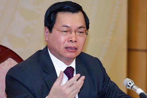 Nguyên Bộ trưởng Công Thương Vũ Huy Hoàng bị đề xuất kỷ luật cảnh cáo