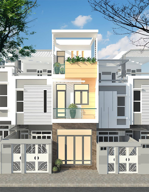 Xây nhà 2,5 tầng ở Sài Gòn với 640 triệu đồng - Ảnh 1.