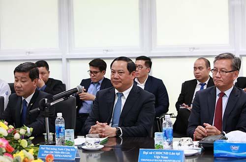 Phó Thủ tướng Lào thăm và làm việc với Vinamilk - Ảnh 1.