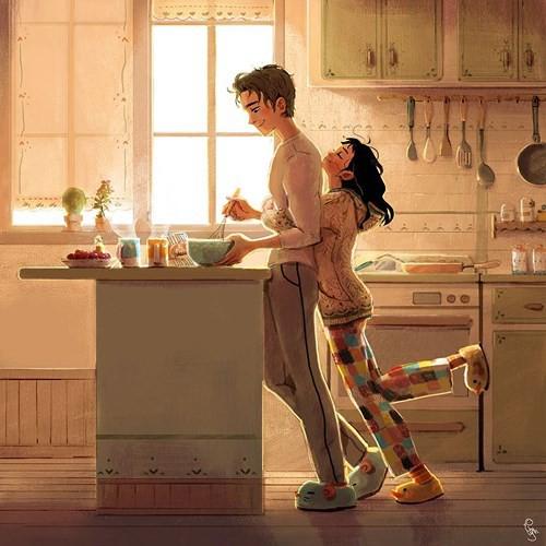 Bộ tranh: Tình yêu đến từ những điều nhỏ nhặt nhất - Ảnh 1.
