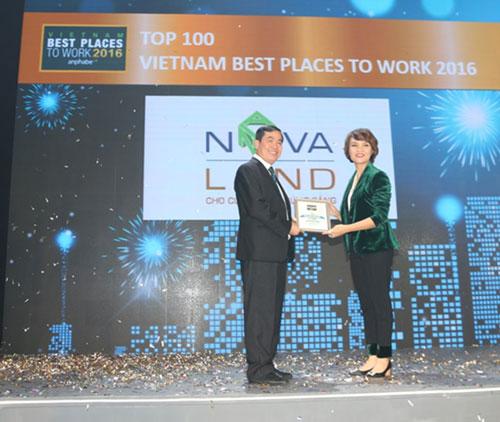 """Novaland vinh dự nhận giải """"Nơi làm việc tốt nhất Việt Nam 2016"""""""