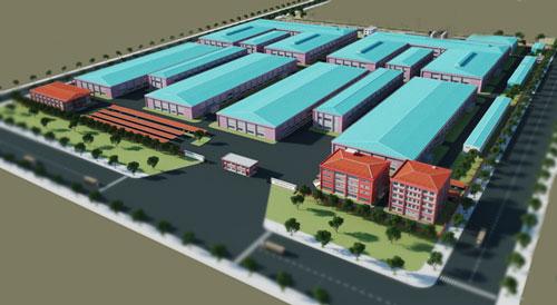 Phối cảnh dự án nhà máy Paihong Việt Nam do Coteccons thiết kế và thi công