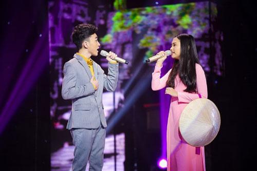 """Ca khúc """"Con đường xưa em đi"""" được trình diễn trong chương trình """"Thần tượng boléro 2016"""" do Đài Truyền hình Việt Nam thực hiện, phát sóng trên kênh VTV3. (Ảnh do chương trình cung cấp)"""