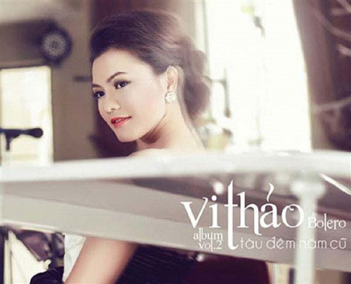 """Album """"Tàu đêm năm cũ"""" của ca sĩ Vy Thảo bị thu hồi vì có ca khúc cùng tên của tác giả Trúc Phương chưa được phép phổ biến. (Ảnh bìa album do nghệ sĩ cung cấp)"""