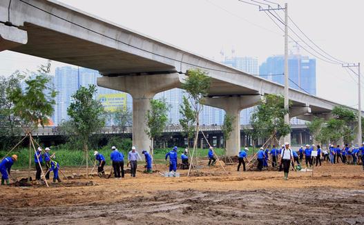 TP HCM mở rộng mảng xanh quanh khu vực cầu Sài Gòn - Ảnh 2.