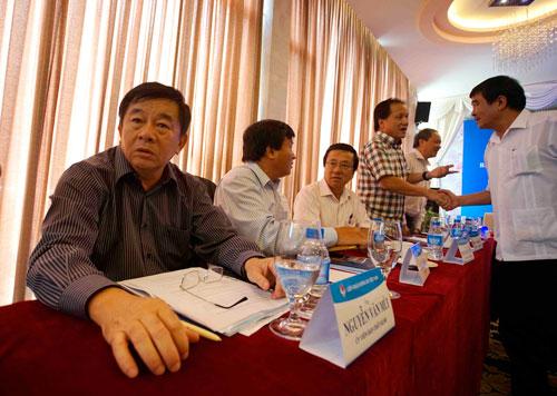 Trưởng Ban Trọng tài Nguyễn Văn Mùi cho rằng VPF làm gì cũng phải đúng quy chế, luật của VFF, FIFA Ảnh: QUANG LIÊM