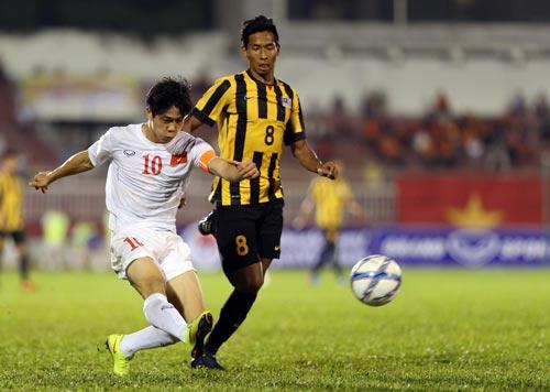 Trước U23 Malaysia chưa mạnh, Công Phượng và đồng đội đã chiến thắng tưng bừng Ảnh: QUANG LIÊM