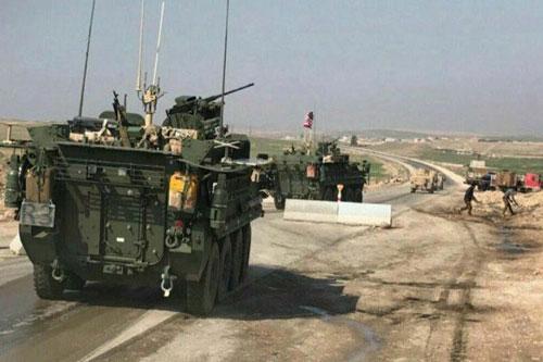 Hình ảnh được cho là xe quân sự Mỹ tại Syria được đưa lên mạng xã hội cuối tuần rồi. Ảnh: MILITARY.COM