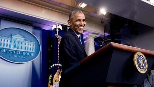 Tổng thống sắp mãn nhiệm Barack Obama đang cùng Đảng Dân chủ quyết bảo vệ di sản của mình Ảnh: AP