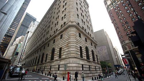 Trụ sở FED chi nhánh New York Ảnh: BLOOMBERG