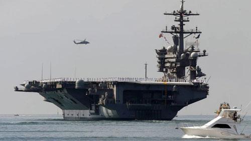 Tàu sân bay USS Carl Vinson của Mỹ đã được điều động đến biển Đông Ảnh: AP