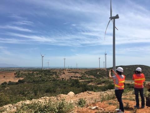 Dự án điện gió Phú Lạc. Ảnh: Thanh Nhân