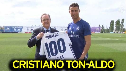 Chủ tịch Perez đã vinh danh anh với chiếc số 100 tượng trưng 100 bàn ở Champion League.