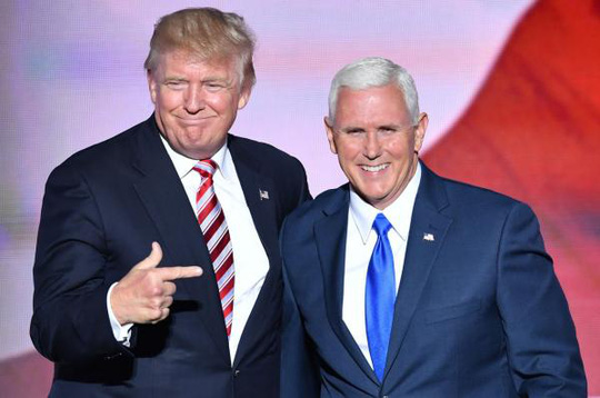 Tổng thống Donald Trump và Phó Tổng thống Mike Pence - Ảnh: UPI