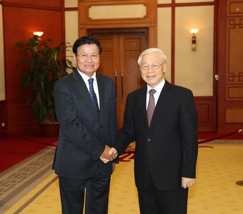 Dành ưu tiên cao nhất cho quan hệ Việt Nam - Lào - Ảnh 1.