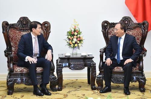 Thủ tướng tiếp ông Lim Ming Yan, Chủ tịch Tập đoàn CapitaLand Ảnh: Quang Hiếu