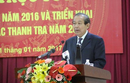 Phó Thủ tướng Thường trực Trương Hòa Bình cho rằng phải kiên quyết xử lý vi phạm, không vì nể nang mà bỏ qua