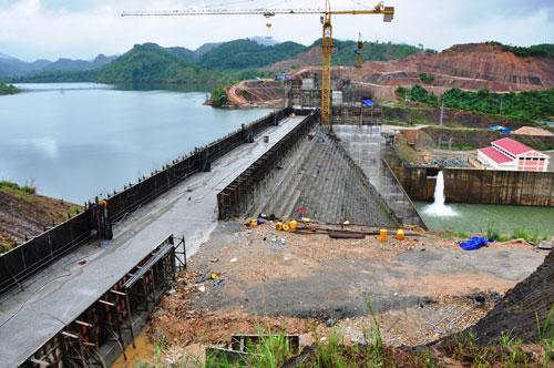 Thủy điện Nước Trong ở huyện Sơn Hà, tỉnh Quảng Ngãi