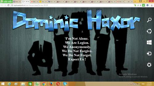 Giao diện của website sân bay Tuy Hòa (tỉnh Phú Yên) bị hack vào ngày 9-3