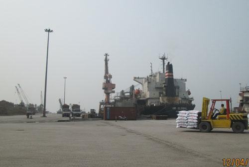 Cảng Nghi Sơn - nơi tàu Bạch Đằng 06 rời cảng