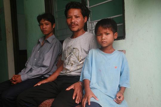 Các bệnh nhân mắc bệnh bạch hầu ở huyện miền núi tỉnh Quảng Nam