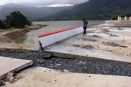 Hồ Suối Hành - một công trình do Công ty TNHH MTV Khai thác công trình thủy lợi Nam Khánh Hòa quản lý
