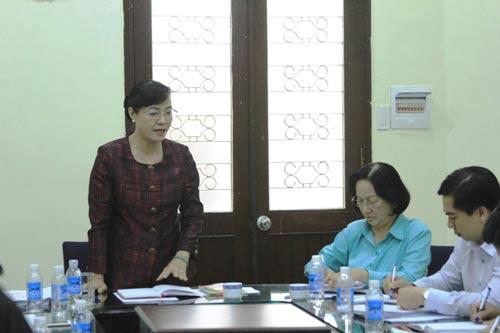 Chủ tịch HĐND TP HCM Nguyễn Thị Quyết Tâm yêu cầu Ban Kinh tế - Ngân sách nâng cao chất lượng thẩm tra cũng như mời các chuyên gia giỏi làm việc