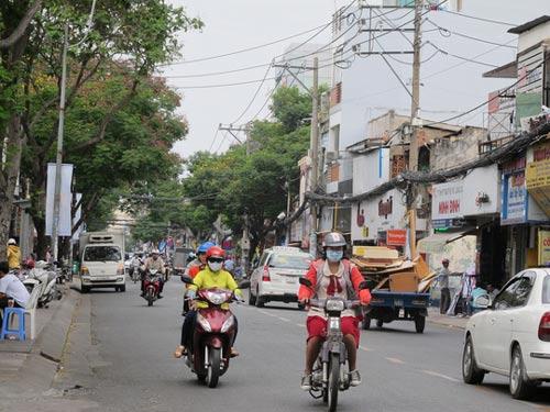 Đoạn đường anh Qiwei Shi bị Hoàng Văn Lập cướp tài sản Ảnh: Phạm Dũng