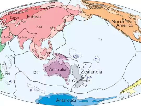 Zealandia nằm ở phía Đông của Úc. Ảnh: USA Today