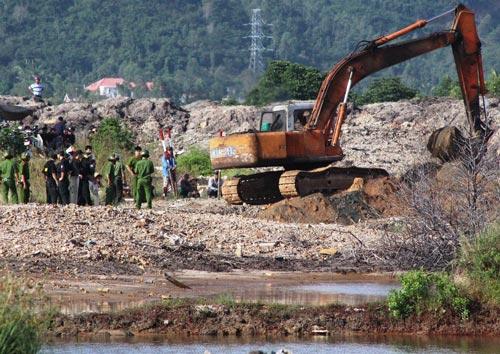 Cưỡng chế đợt 1 gồm đất trống, đất nông nghiệp của 4 hộ dân ở khu Đồng Muối 2, phường Phước Long, TP Nha Trang, tỉnh Khánh Hòa