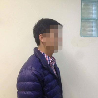 Đối tượng Cao Mạnh Hùng vừa bị khởi tố bị can về hành vi dâm ô với trẻ em Ảnh: C.T.V