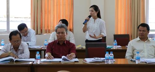 Các đại biểu nêu ý kiến góp ý tại hội nghị
