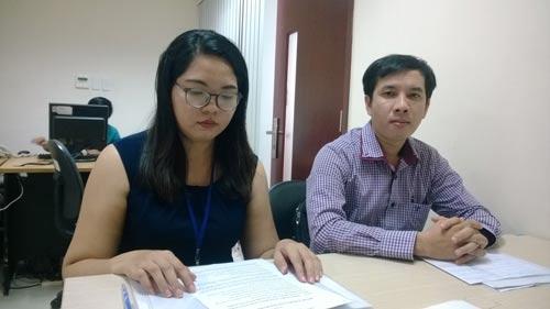Chị Lê Thị Huyền Vân, nhân viên Chi nhánh MKSmart, đến nhờ Báo Người Lao Động can thiệp, bảo vệ quyền lợi