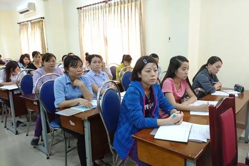 Cán bộ Công đoàn tham dự buổi tập huấn