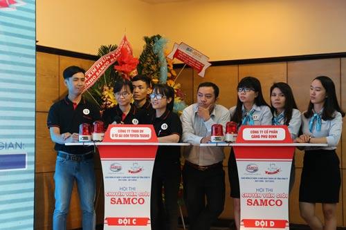 Hội thi tìm hiểu kiến thức về an toàn lao động do Công đoàn Tổng Công ty Cơ khí Giao thông Vận tải Sài Gòn tổ chức Ảnh: KHÁNH CHI