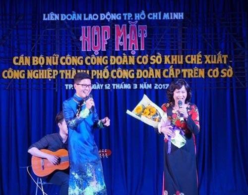 MC Nguyễn Mai Huy của LĐLĐ TP HCM