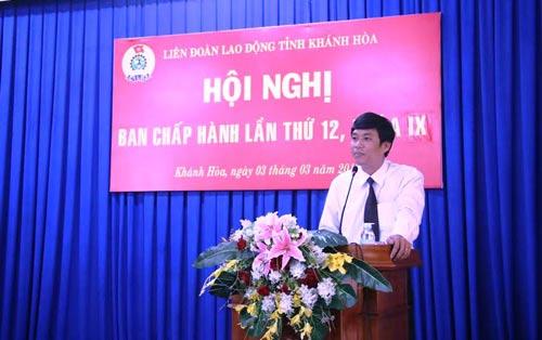 Ông Bùi Thanh Bình, tân Phó Chủ tịch LĐLĐ tỉnh Khánh Hòa
