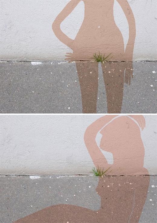 """Vâng, chỉ là đám cỏ mọc """"ké"""" trên bờ tường thôi mà, việc gì phải xoắn. Song, nó có thể đẩy trí tưởng tượng của bạn đi xa hơn mức quy định, tỉ dụ như trở thành một bộ phận của một vài bộ phận nào đấy trên cơ thể!"""