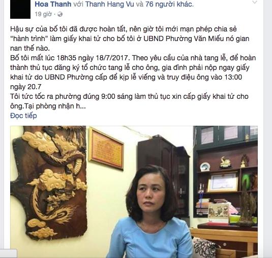 Lãnh đạo phường Văn Miếu đến nhà dân xin lỗi và xin gỡ bài - Ảnh 2.